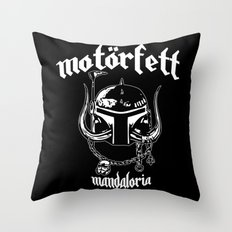 MotorFett Throw Pillow