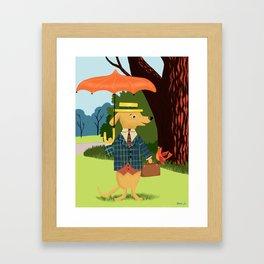 Mister Barkly Goes To The Park Framed Art Print