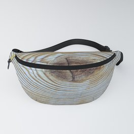 Wooden Knot Texture Fanny Pack
