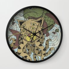 Mr Octopus & The One That Got Away Wall Clock