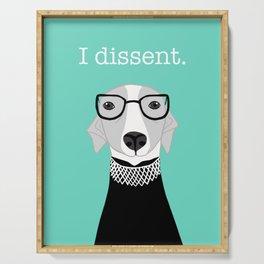 Ruth Bader Ginsburg Greyhound I Dissent Serving Tray