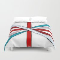 british flag Duvet Covers featuring In the Honor of a British Flag by Tata