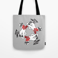 Tattoo Hands Tote Bag