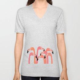 flamingo flock Unisex V-Neck