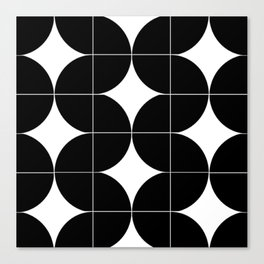Modular Black and White Repeated Pattern Design Canvas Print