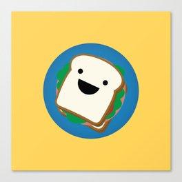 Happy Sandwich Canvas Print