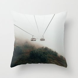 Cable Cars in the Mystic Fog Throw Pillow