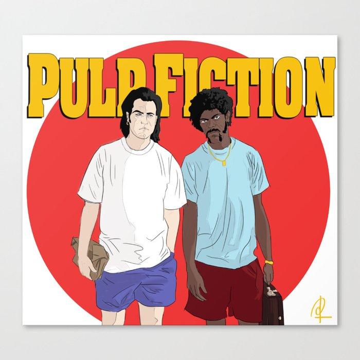 Pulp Fiction - Vincent & Jules Leinwanddruck