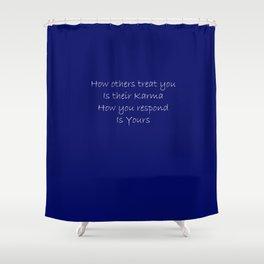 Blue Karma Shower Curtain