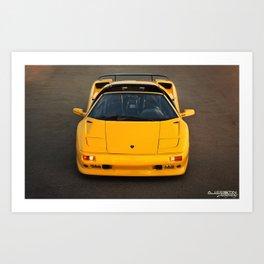 Lamborghini Diablo VT Roadster (Front) Art Print