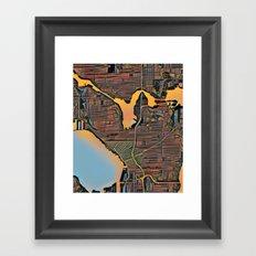 Seattle Color Framed Art Print