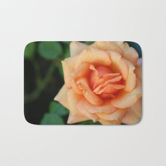 Single rose flower blooming Bath Mat