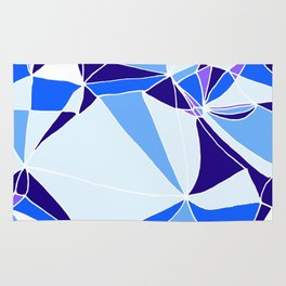 Blue mosaic Abstract artwork Rug