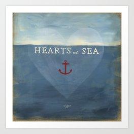 Hearts at Sea Art Print