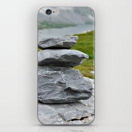Zen stones in the mountains iPhone Skin