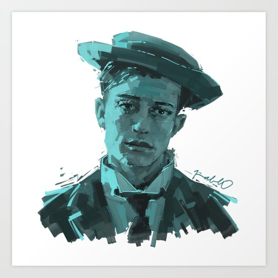 Buster Keaton by pabpaint