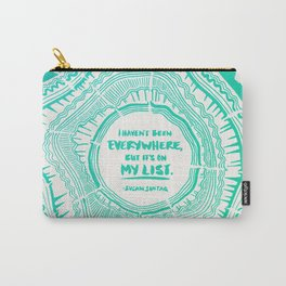 My List – Turquoise Ombré Carry-All Pouch