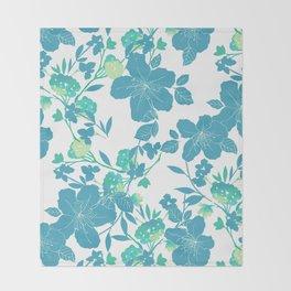 Botanical Blues Throw Blanket