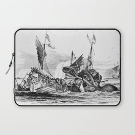 1810 vintage nautical octopus steampunk kraken sea monster drawing print Denys de Montfort retro Laptop Sleeve