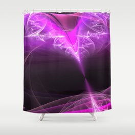 The beginning-attraction- fractal heart Shower Curtain