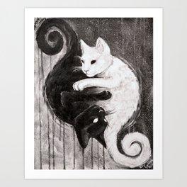 Yin Yankitties Art Print