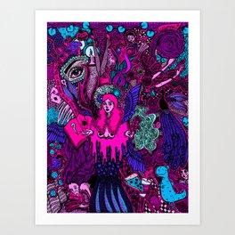 Crazy Doodle- Colored Version Art Print