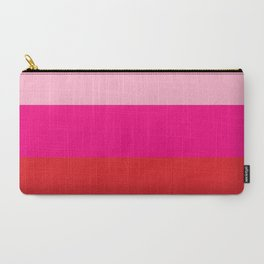 Pink Colorblock Carry-All Pouch