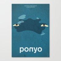ponyo Canvas Prints featuring Ponyo by Fabiocs