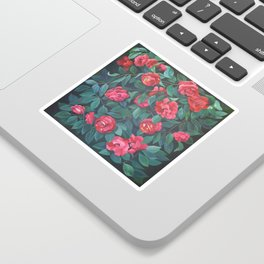 Camellias, lips and berries. Sticker