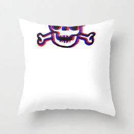 Skully 3D Throw Pillow