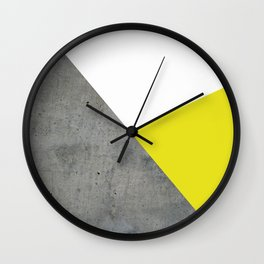 Concrete vs Corn Yellow Wall Clock