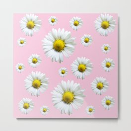 Pink Daisy Chains Metal Print