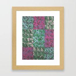 Rectangles and Swirls Framed Art Print