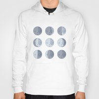 moon phases Hoodies featuring Moon Phases by Katie Boland