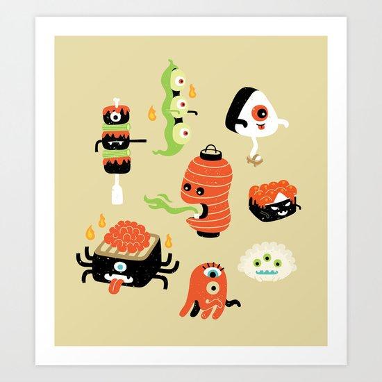 Izakaya Monsters Art Print