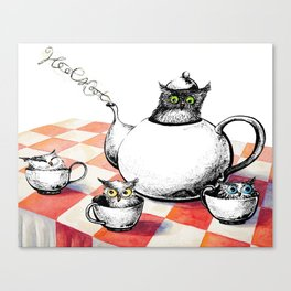 Owls for Tea Canvas Print