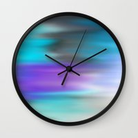 chill Wall Clocks featuring Chill by Angelz