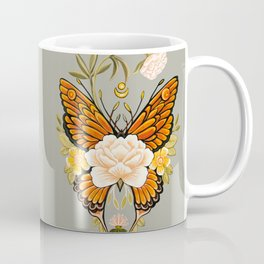 Butterfly Peonies Tattoo Coffee Mug