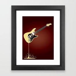 Fluid Guitar Framed Art Print