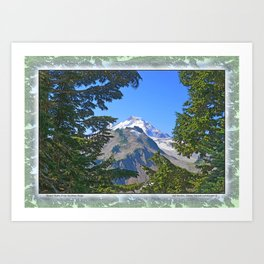MOUNT BAKER FROM KULSHAN RIDGE Art Print