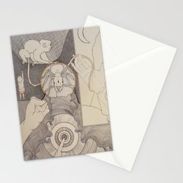 Reaching Pointing Grabbing Stationery Cards