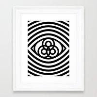 third eye Framed Art Prints featuring Third Eye by cmyka