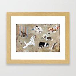 working-dogs Framed Art Print