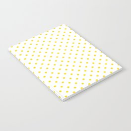 Dots (Gold/White) Notebook