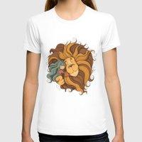 lion T-shirts featuring Lion by Tatiana Obukhovich
