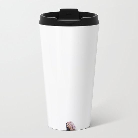 White Metal Travel Mug