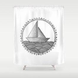 Sailing Boat Shower Curtain