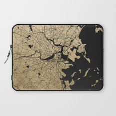 Boston Black and Gold Map Laptop Sleeve
