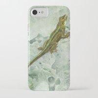 lizard iPhone & iPod Cases featuring Lizard by Michelle Behar
