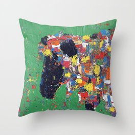 Colorful Ewe Throw Pillow